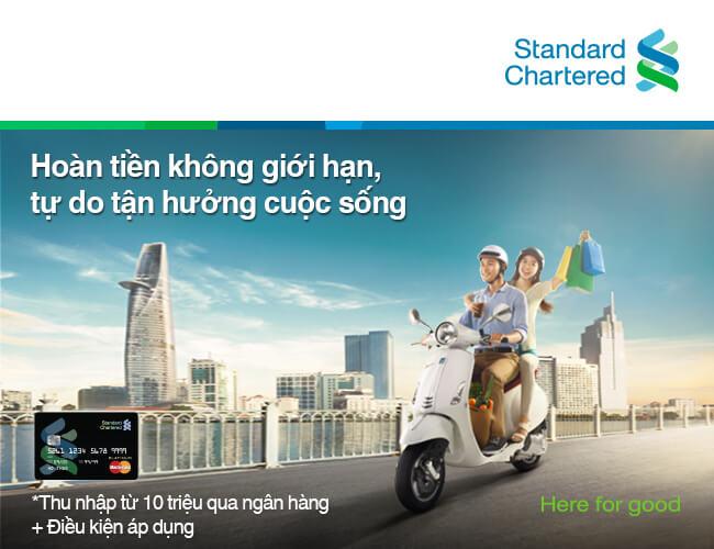 Mở thẻ tín dụng Ngân hàng Standard Chartered – Tặng Xe Đạp Thể Thao