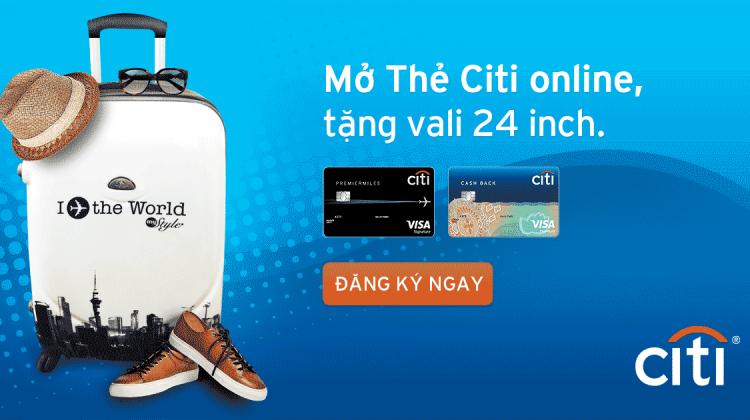 Mở thẻ tín dụng Citibank nhận hàng ngàn ưu đãi